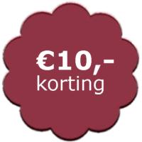 10,- korting